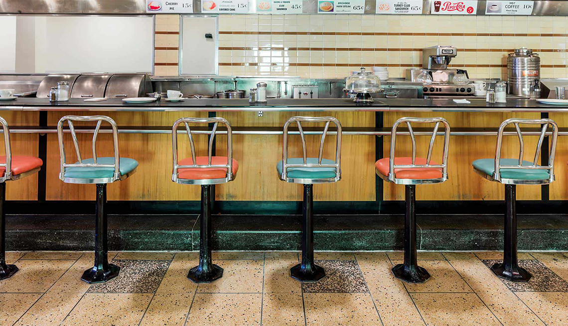stools from the F.W. Woolworth counter in Greensboro, NC