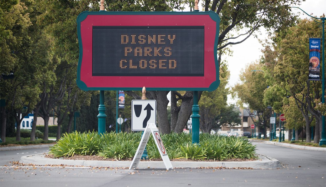 Disney theme parks are closed as the coronavirus continues to spread across the United States on March 14, 2020 in Anaheim, California. The World Health Organization declared coronavirus (COVID-19) a global pandemic on March 11th