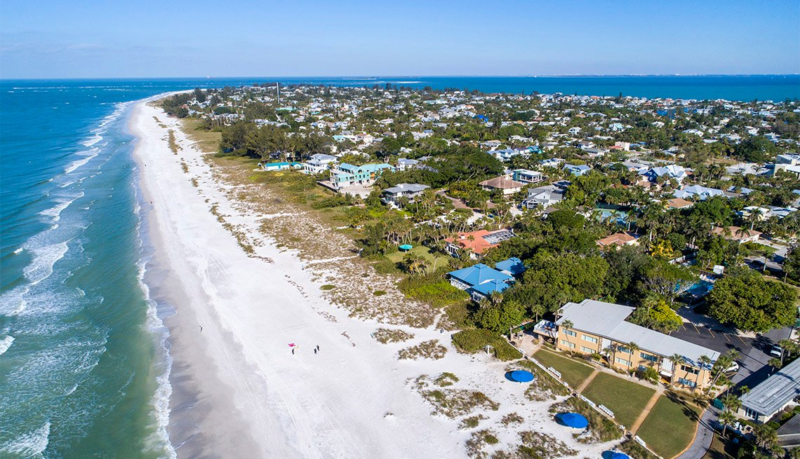 item 1 of Gallery image - aerial view of Anna Maria Island, Fla