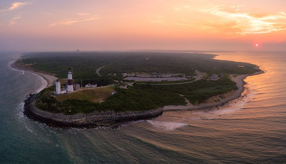 item 7 of Gallery image - aerial photo of Montauk Point State Park