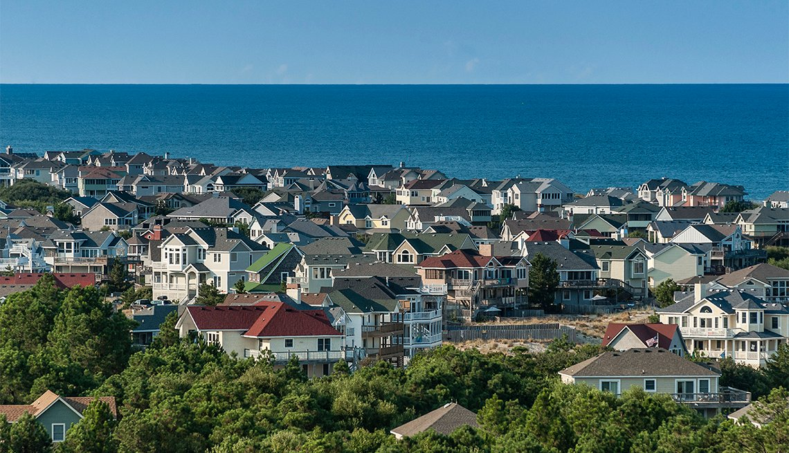 Casas de lujo frente a la playa