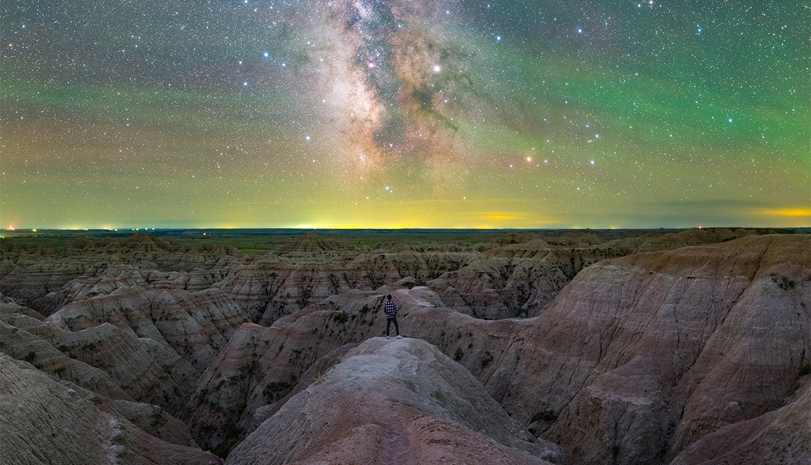 item 2 of Gallery image - colorful night sky at Badlands National Park