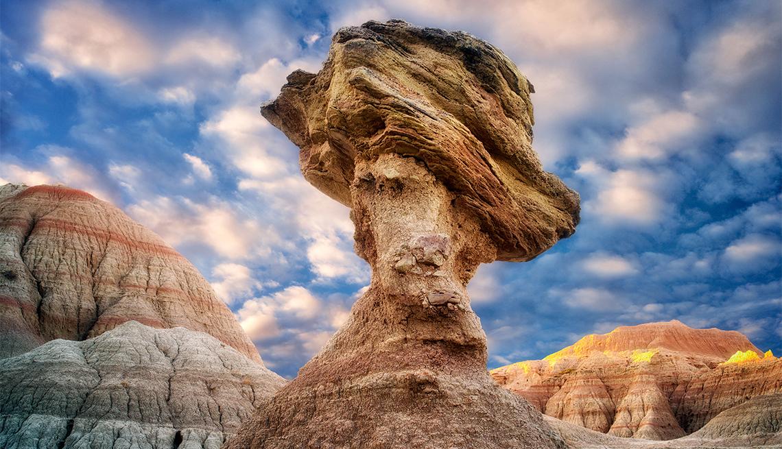 item 1 of Gallery image - balancing rock at Badlands National Park