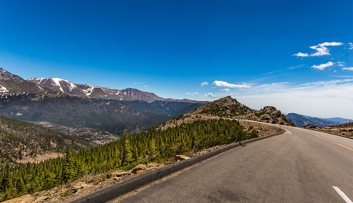 item 5, Gallery image. Gorgeous Trail Ridge Road sweeps 48 miles through the park between Grand Lake and Estes Park.