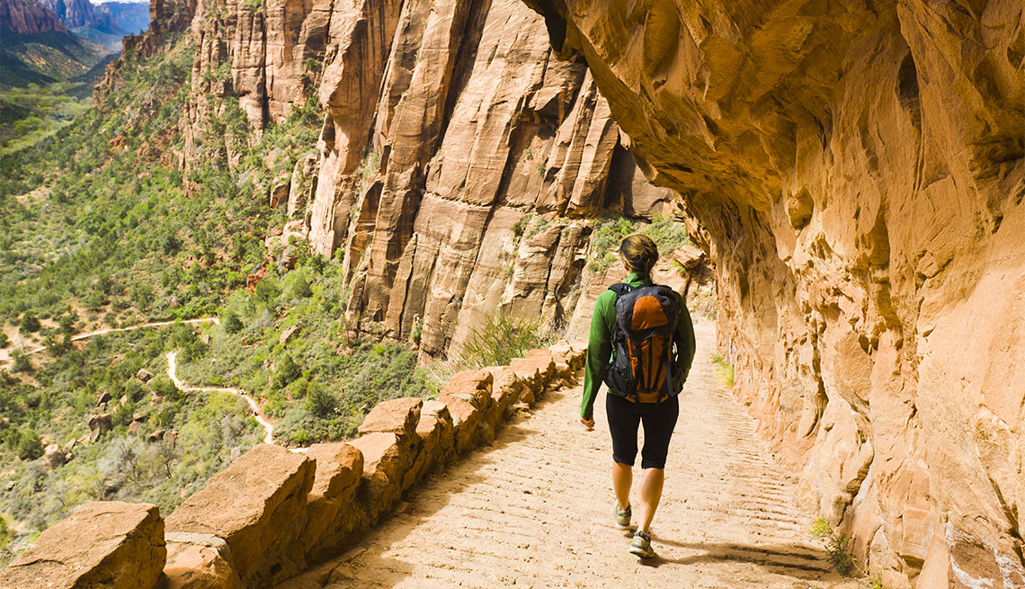 Female hiker at Zion National Park