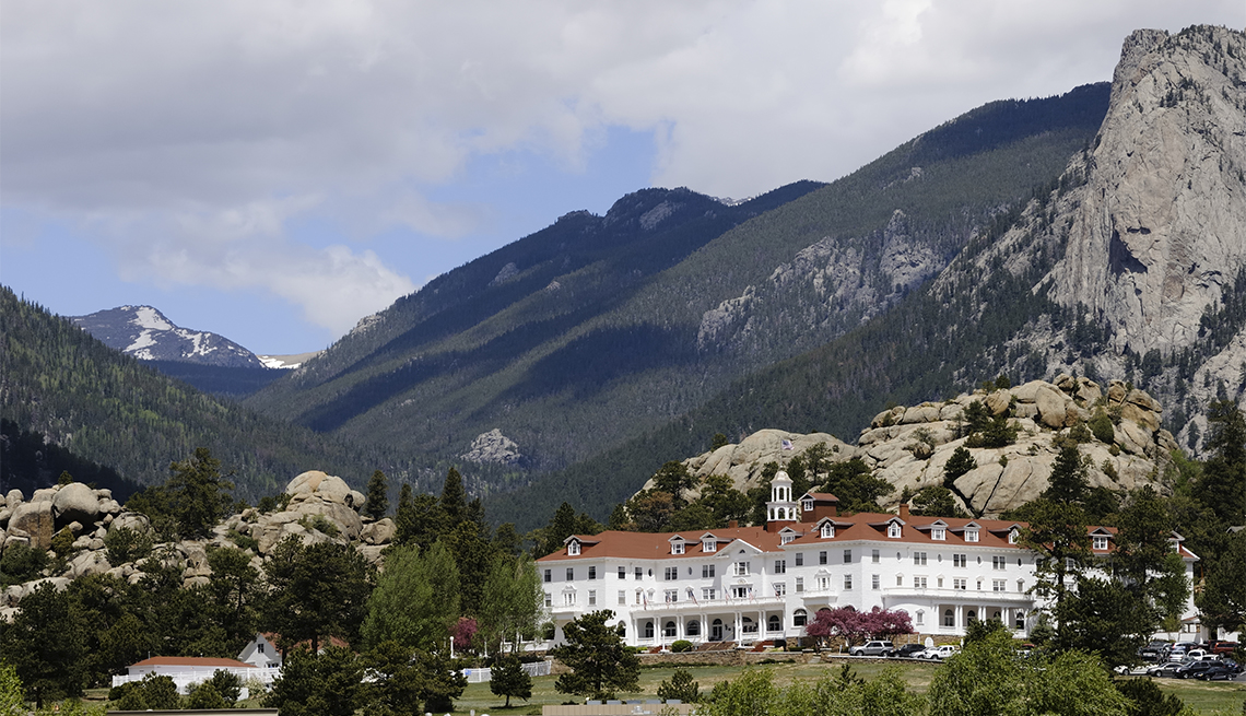 item 10, Gallery image. The grand and historic Stanley Hotel in Estes Park is famous as Stephen King's inspiration for 'The Shining.'