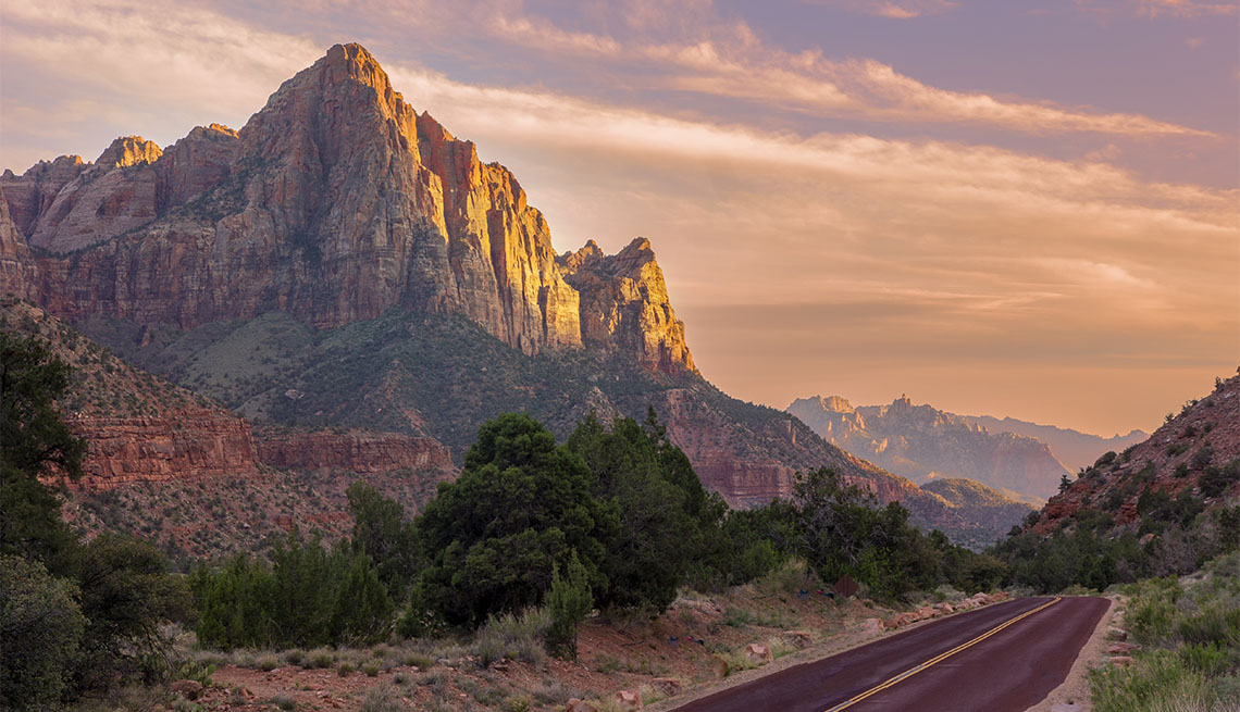 item 2 of Gallery image - Gorgeous Sunset over Watchman mountain in Zion National Park, Utah