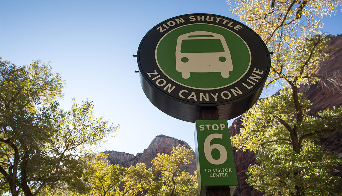 item 6 of Gallery image - Zion Canyon Line Shuttle sign
