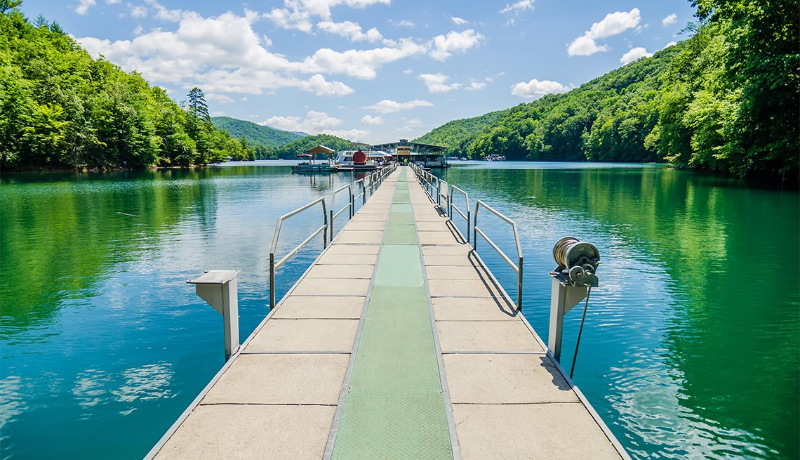 item 7 of Gallery image - Lake Fontana boats and ramp in Great Smoky Mountains