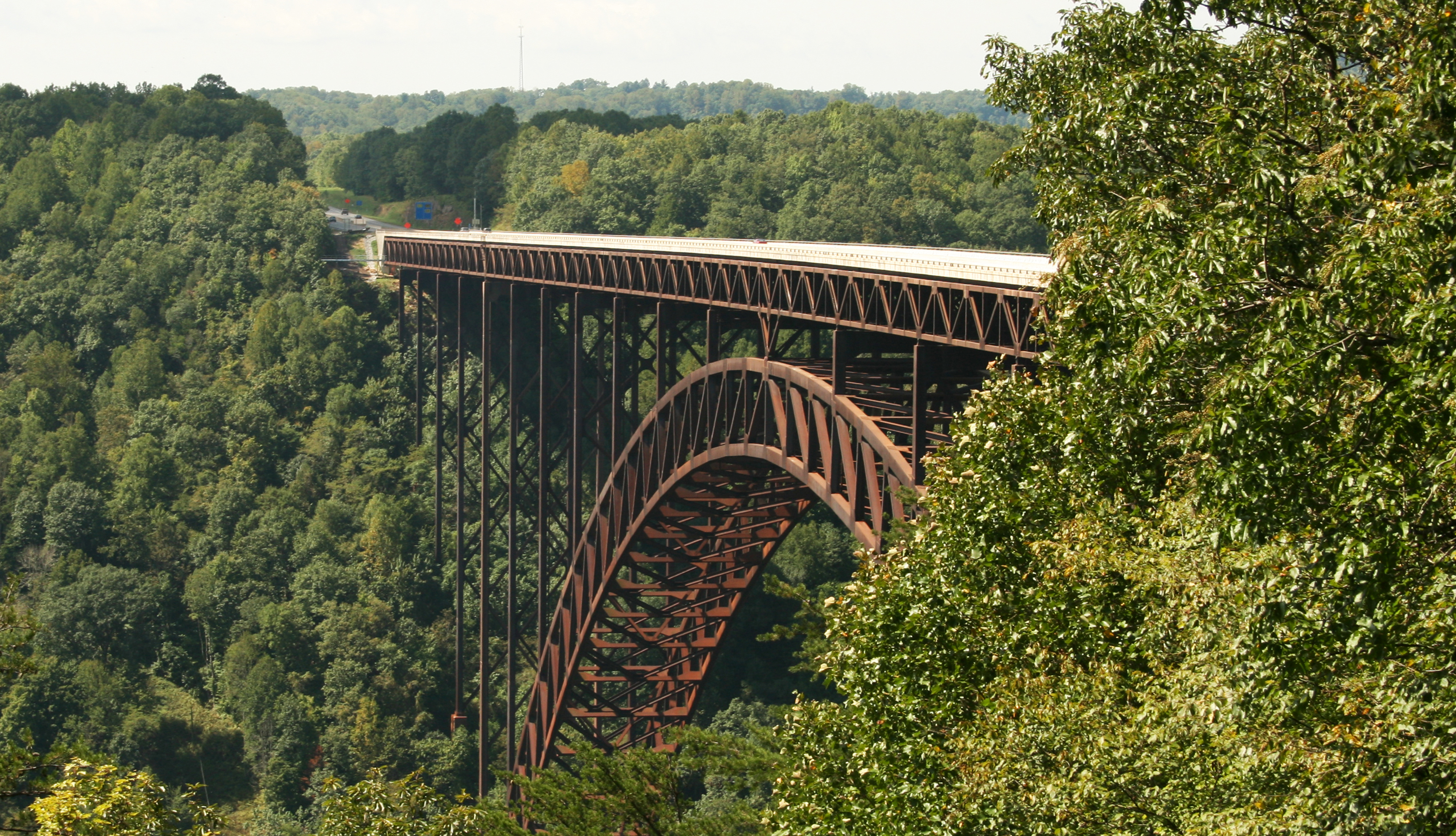 Imagen panorámica del New River Gorge Bridge