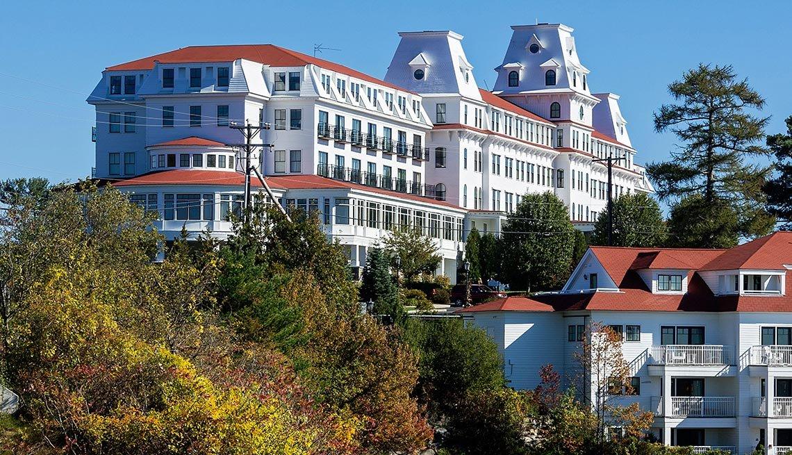 Panorámica del Wentworth Hotel en Nuevo Hampshire