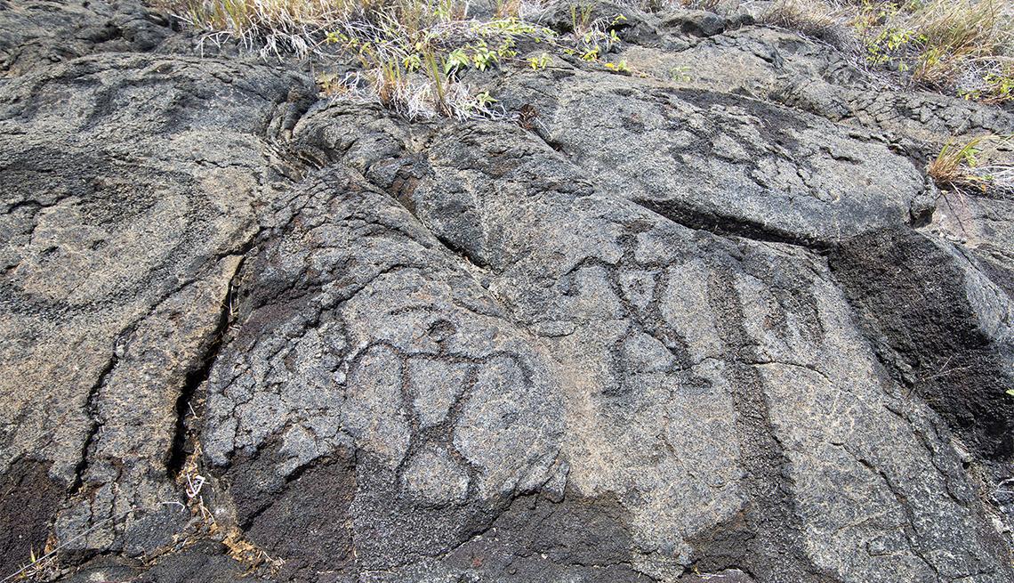 item 1 of Gallery image - Pu`u Loa Petroglyphs in Volcanoes National Park, Big Island Hawaii