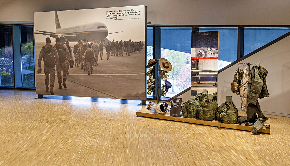 One of the displays at the National Veterans Memorial and Museum