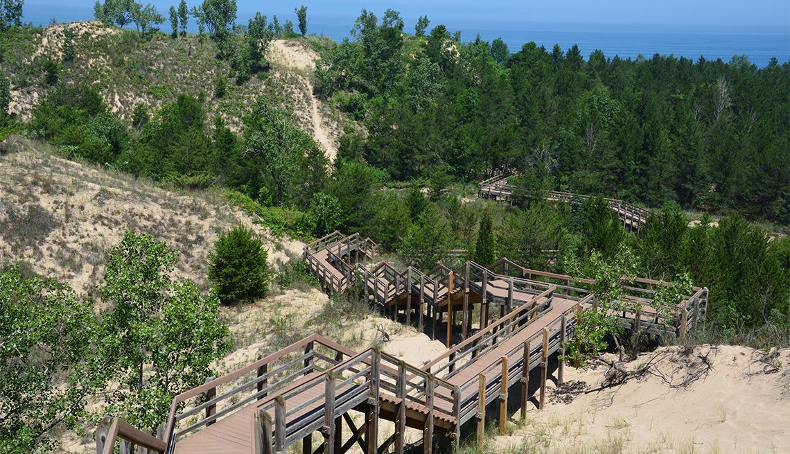 item 1 of Gallery image - Escaleras de un sendero entablado