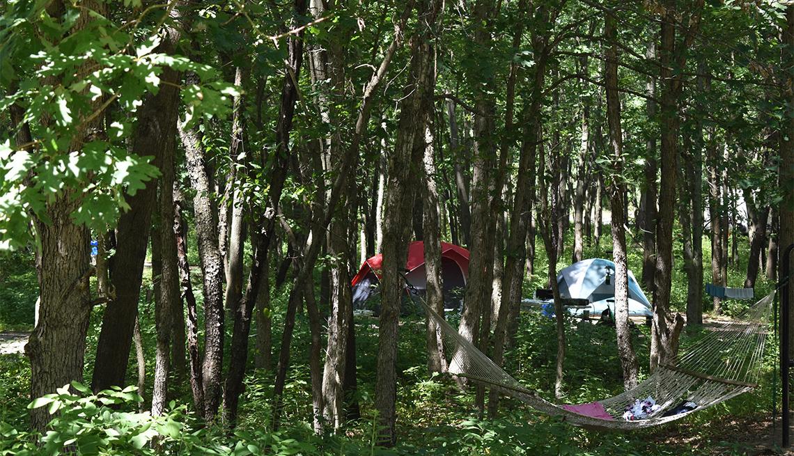 Dunewood Campground, el único campamento del parque
