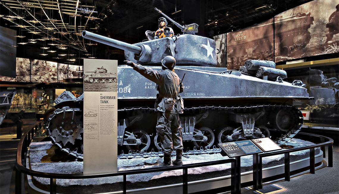 The M4 Sherman tank was the iconic American tank of World War II. It was employed in all theaters of operation where its reliability and mobility allowed it to spearhead armor attacks, provide infantry support or serve as artillery