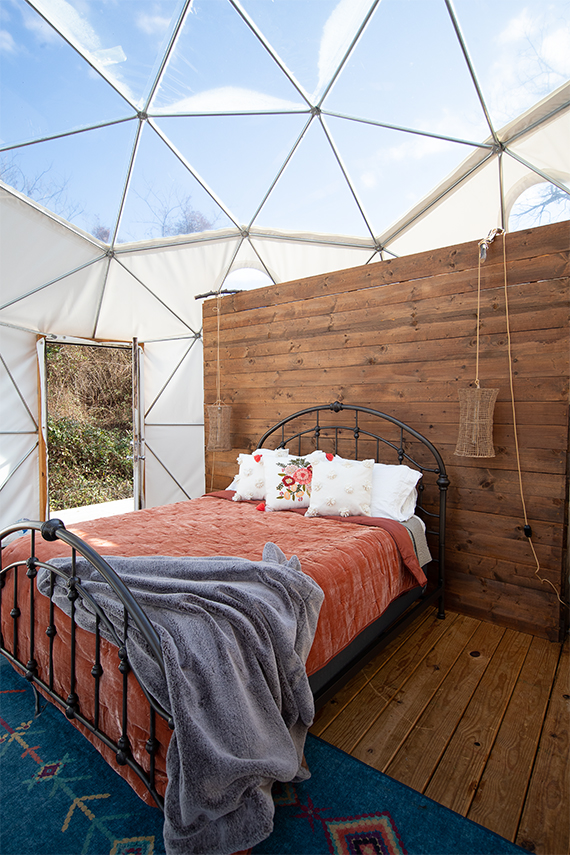 Asheville Glamping dome
