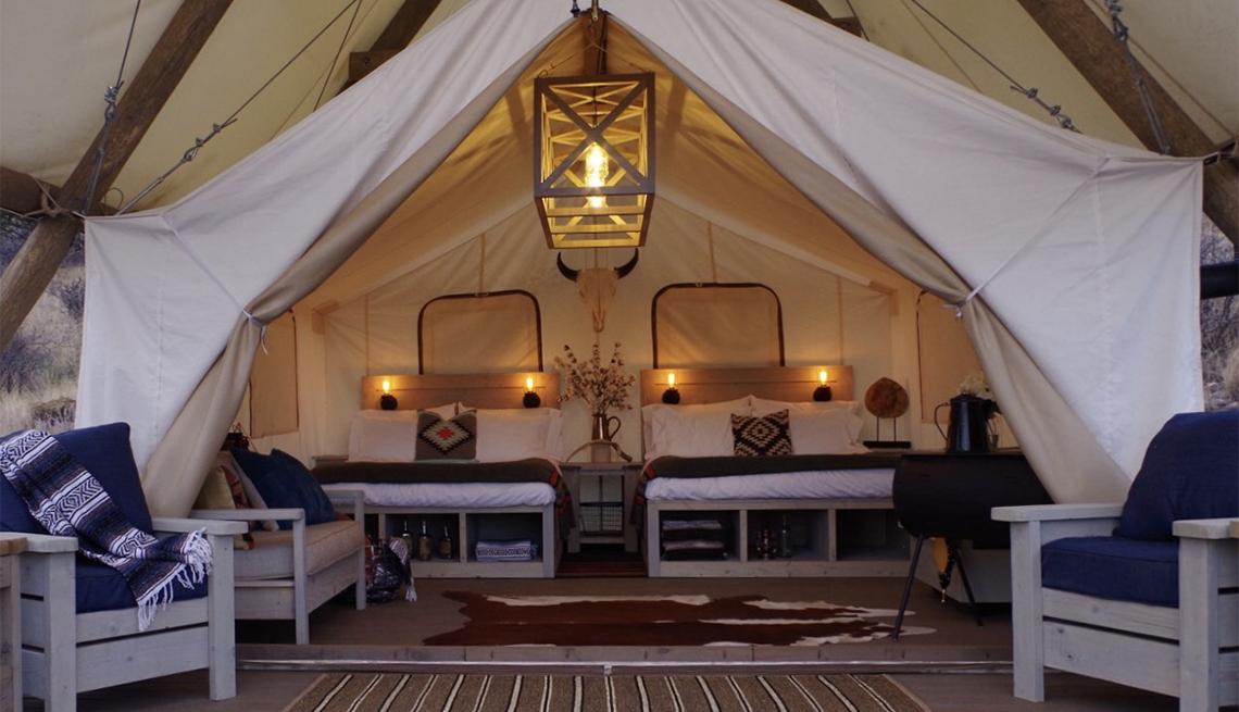 a tent at Black Tree Resort