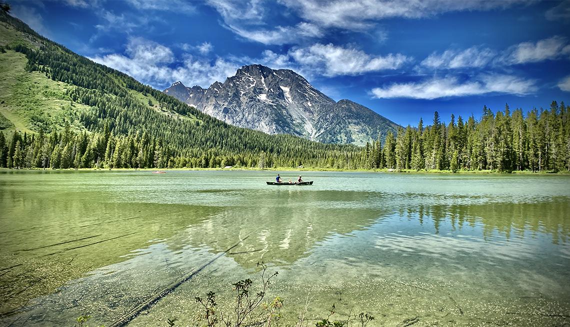 canoe ride in the Grand Teton National Park