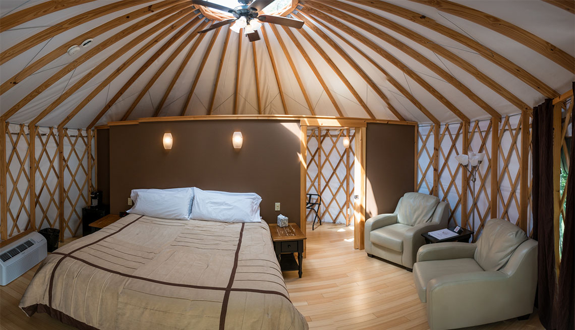 Nomad Ridge (Yurt Interior)