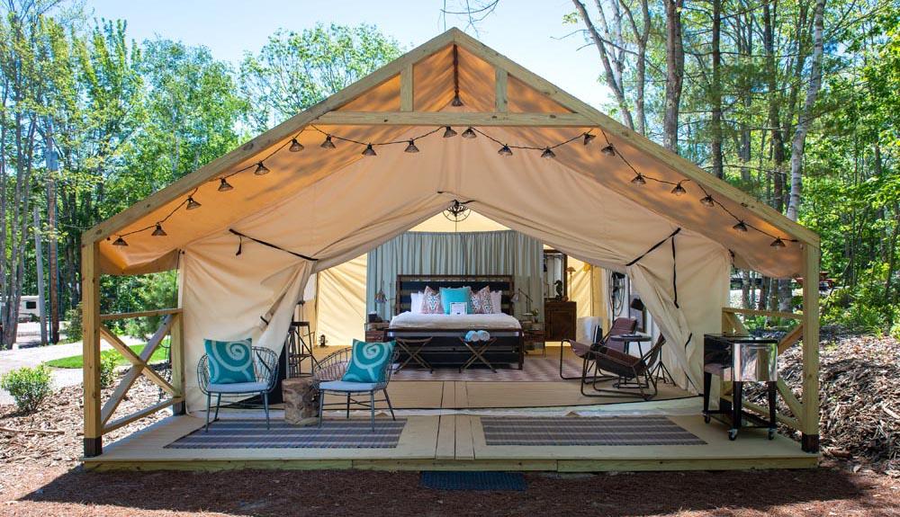 Sandy Pines Campground, Kennebunkort, Maine.