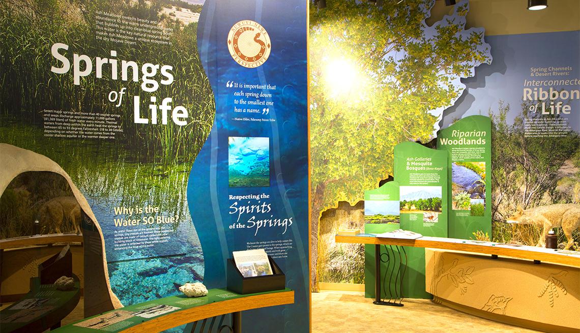 Interior del Refugio Nacional de Vida Silvestre Ash Meadows, Nevada