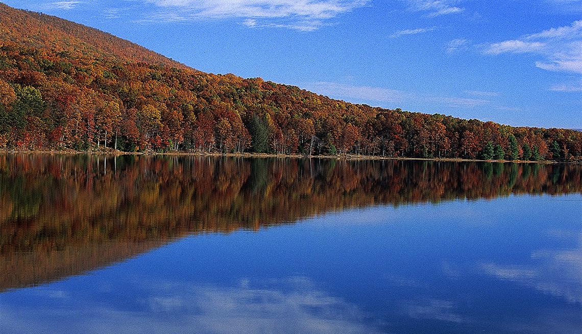 item 7 of Gallery image - Autumn on Lake Habeeb, Maryland