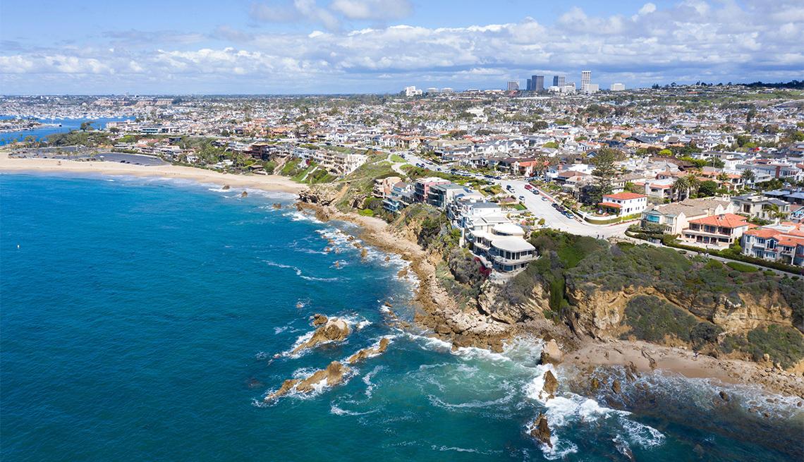 item 1 of Gallery image - Aerial views above beautiful coastal Corona del Mar in Newport Beach