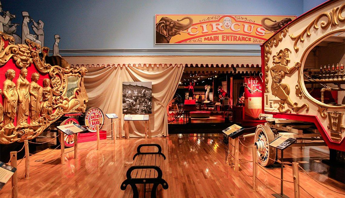Displays inside the Ringling Circus Museum in Sarasota Florida