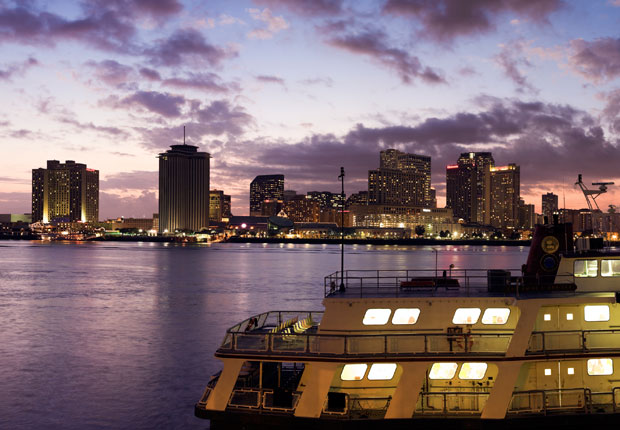 Ferry on Mississippi River, New Orleans