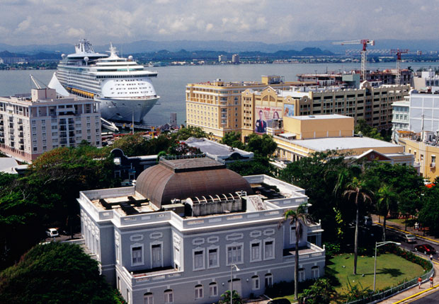 Cruise ship in San Juan, Puerto Rico.
