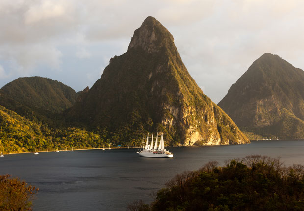 Twin Pitons, St. Lucia, top 10 cruise ports