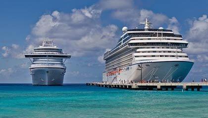 Dos cruceros en la playa, cómo mantenerse seguro en un crucero