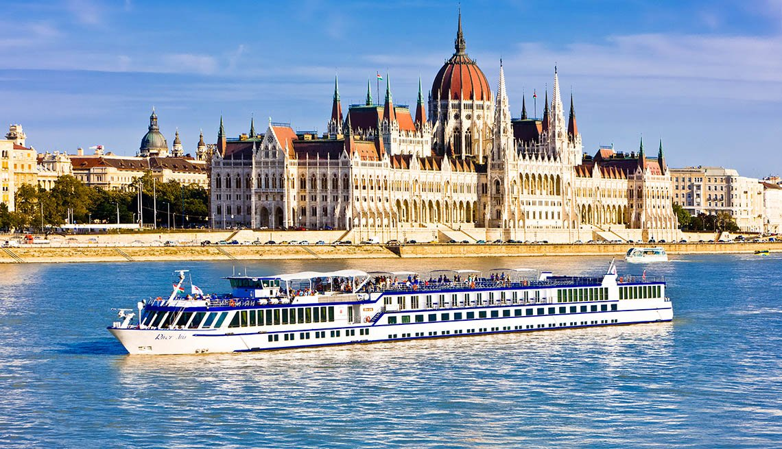 European River Boat With Parliament In Background In Budapest Hungary, Is European River Cruising For You?