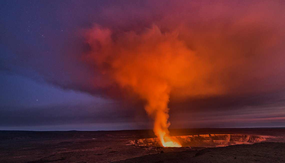 Lava in Halemaumau Crater in Hawaii's Volcanoes National Park,  Great American Cruises