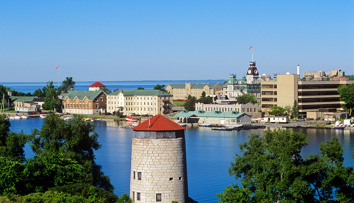The St Lawrence River And Port Near Ontario Canada, Best River Cruises