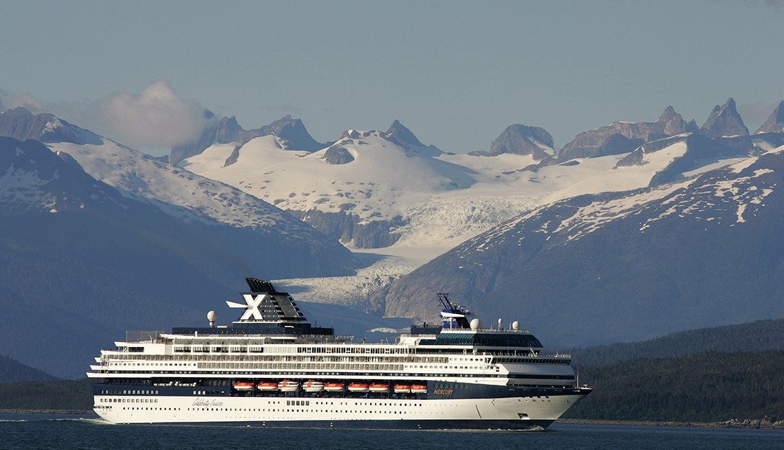 Celebrity Cruise ship in Glacier Bay