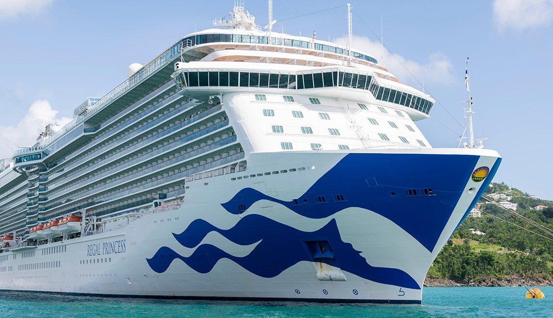 Regal Princess cruise ship docked at St. Thomas