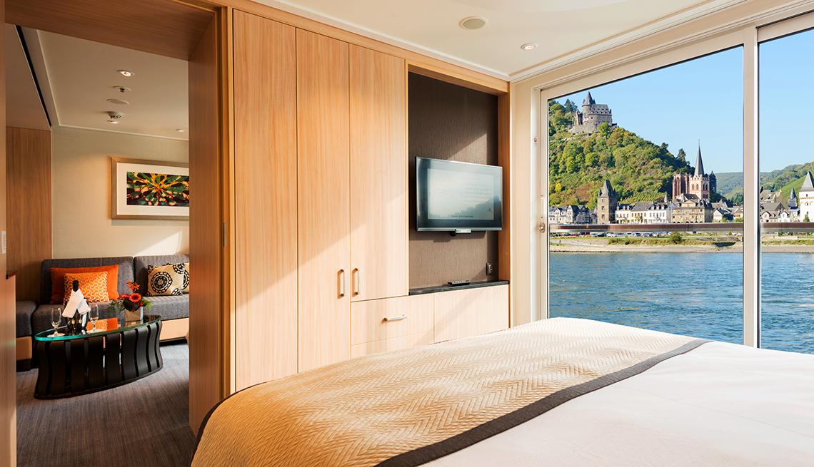 Vista de la habitación de un crucero