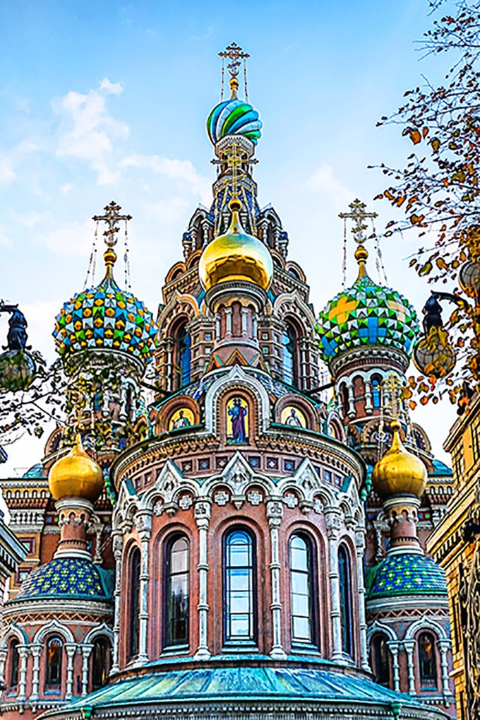 Iglesia en San Petersburgo, Rusia.