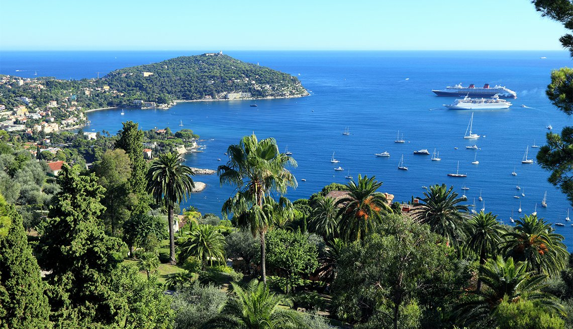 ships along the bay of Villefranche