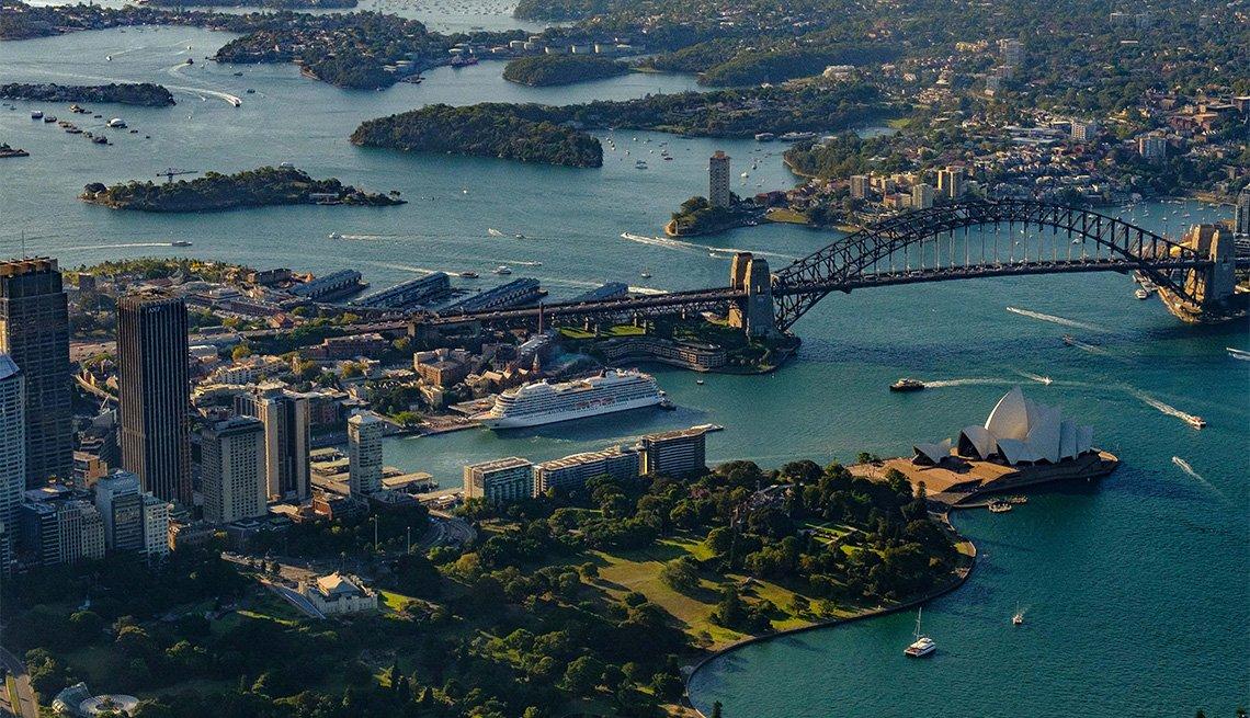 Vista aérea del crucero Viking Sun