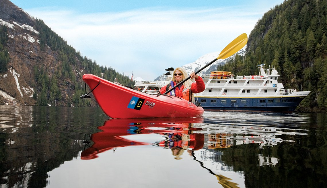 The Lindblad Expeditions ships National Geographic Sea Lion or Sea Bird operating in Baja and Southeast Alaska