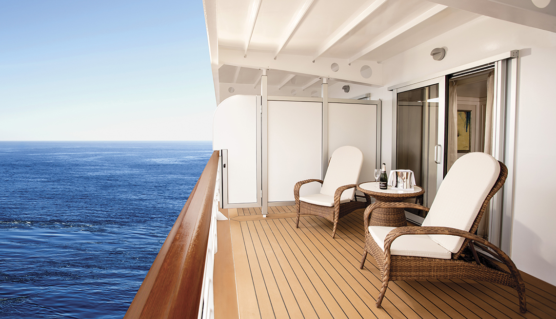 balcony on the Seven Seas Explorer