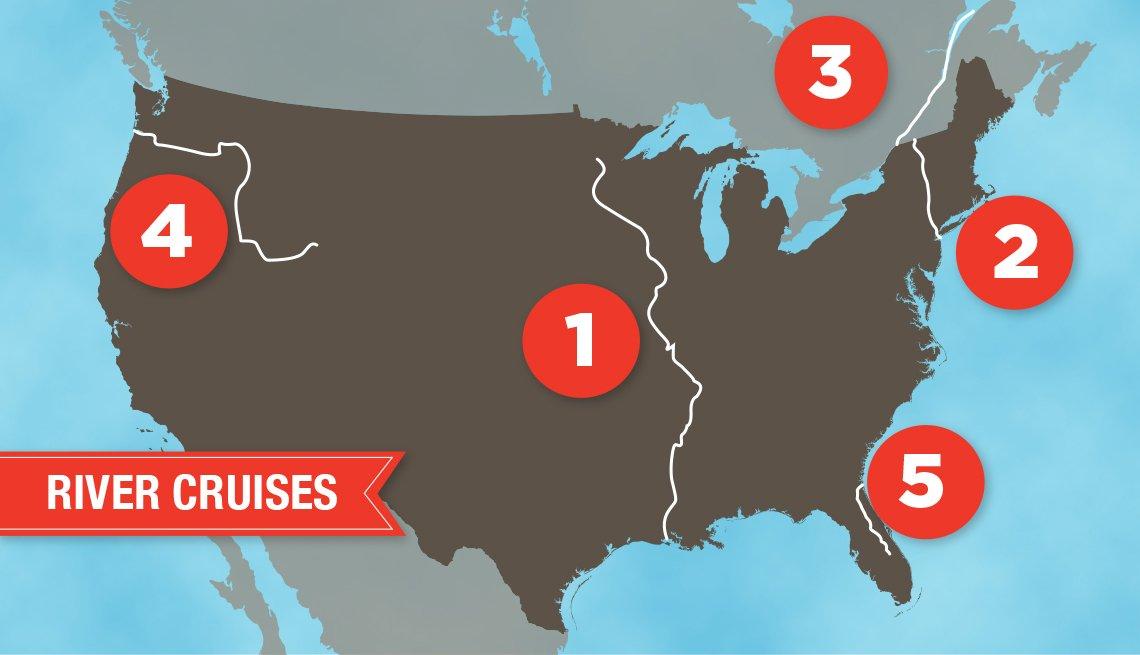 map of U.S. showing major waterways