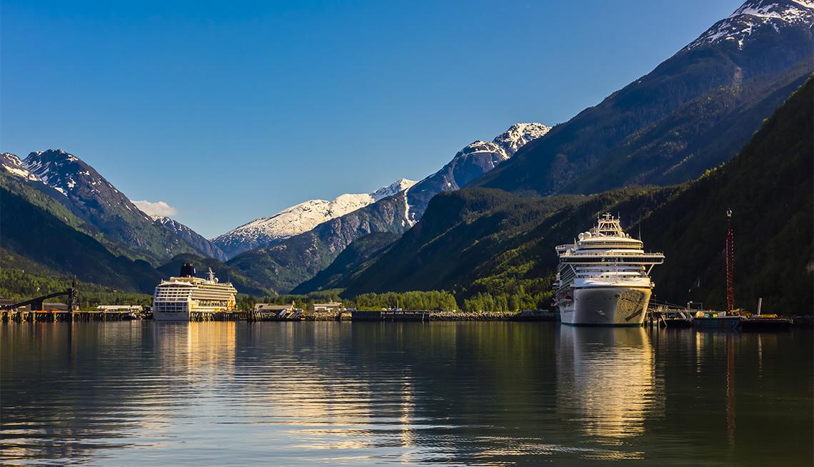 Cruise ships docked in Skagway, Alaska