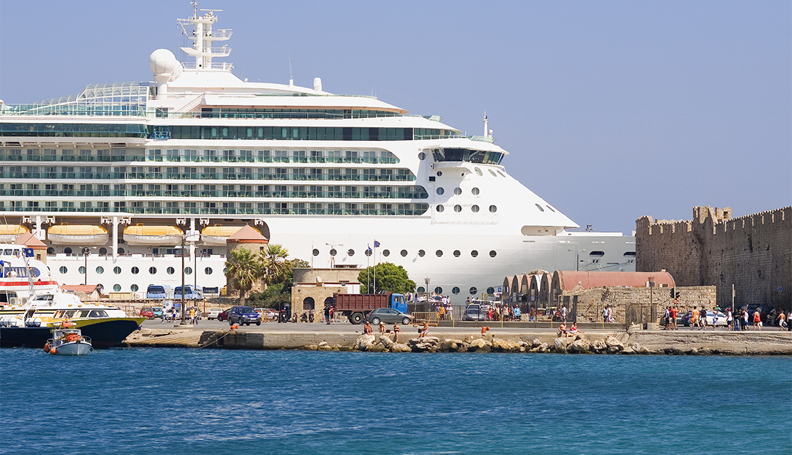 Crucero en el puerto
