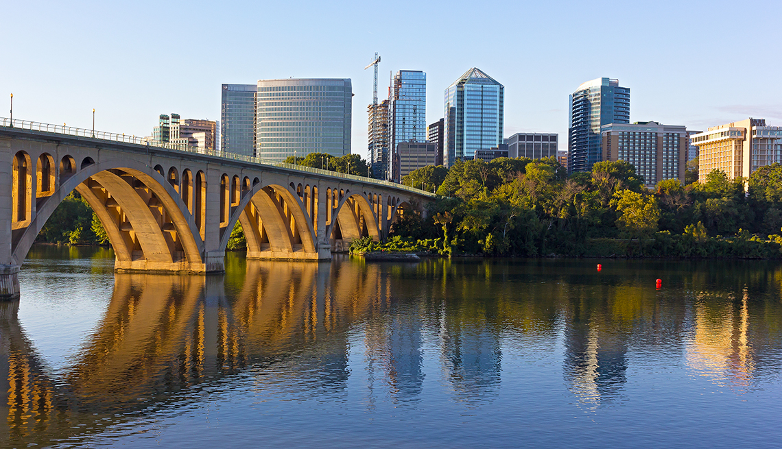 item 3 of Gallery image - Key Bridge and Rosslyn skyline in early morning