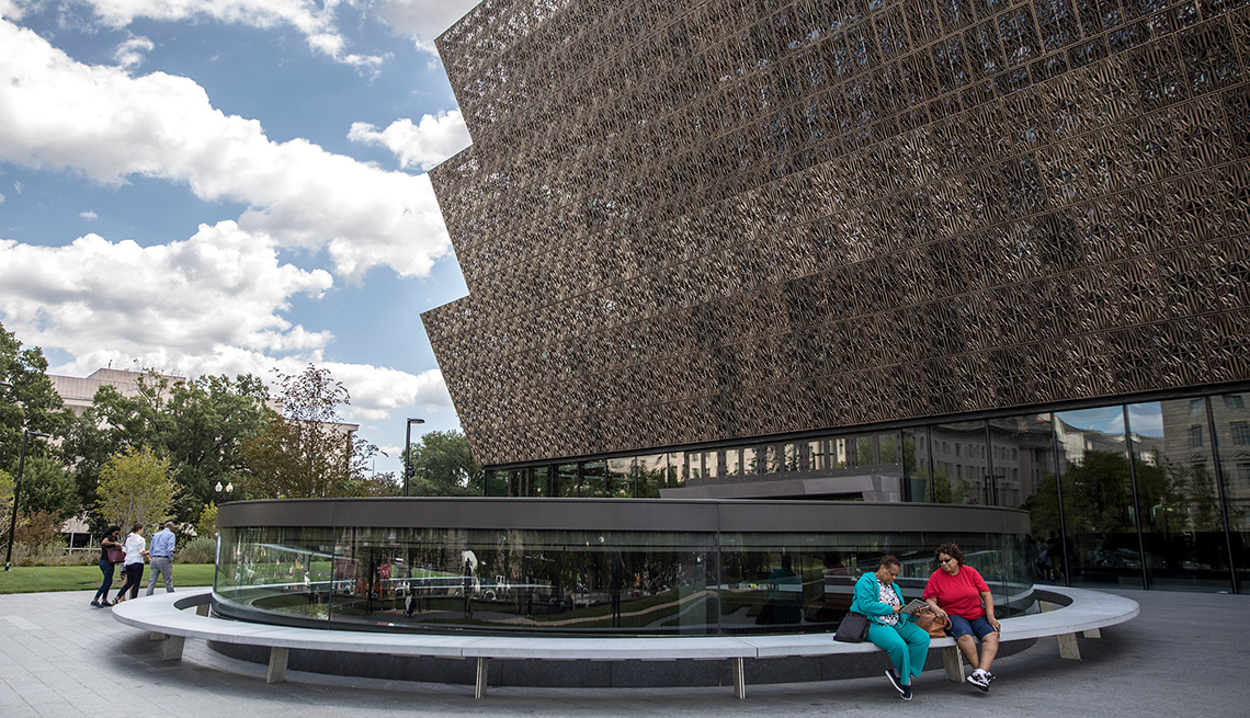 item 5 of Gallery image - outside seating area of the national museum of african american history and culture