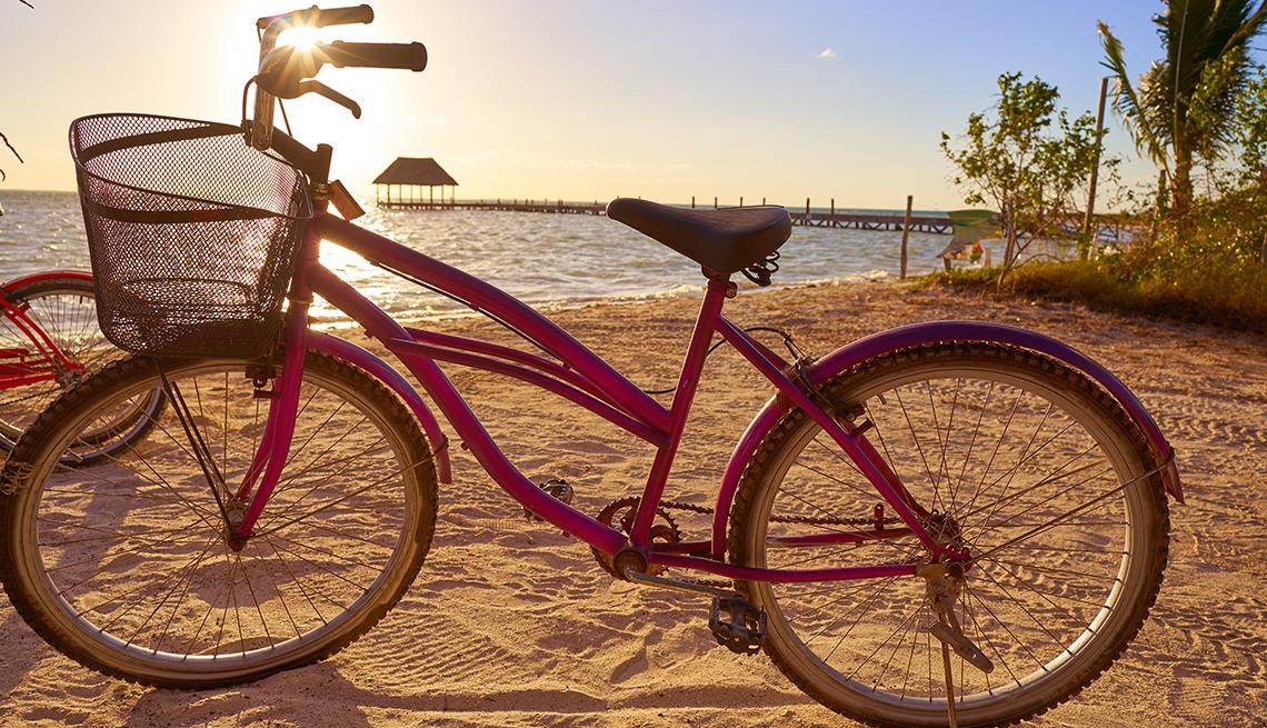 Bike on a beach in Cancun